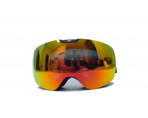 Зимние очки Snow Star (зеркальные оранжевые)