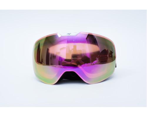 Зимние очки Snow Star (зеркальные розовые)