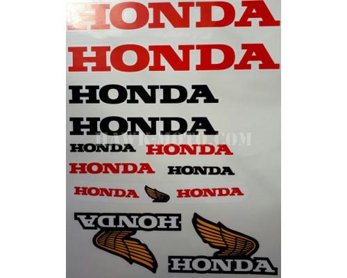 """Комплект наклеек """"Хонда"""""""